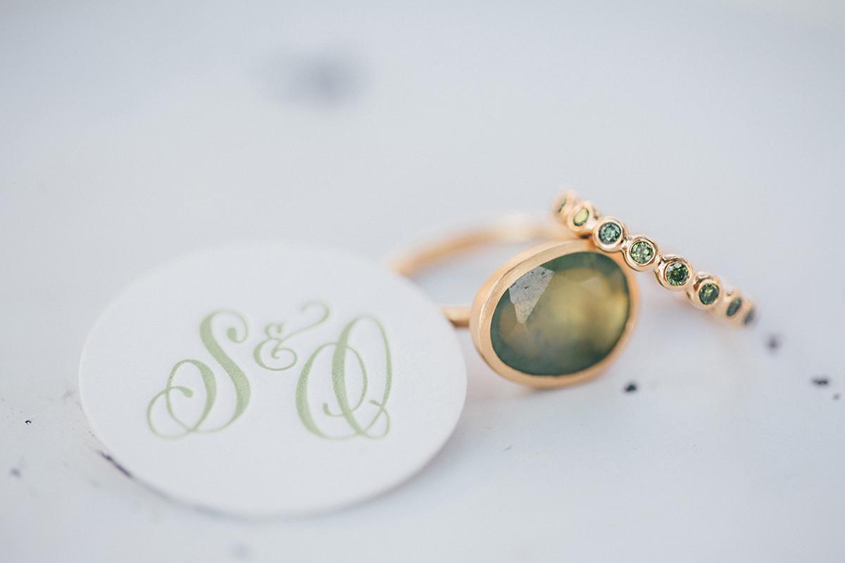 Ehering grün gold