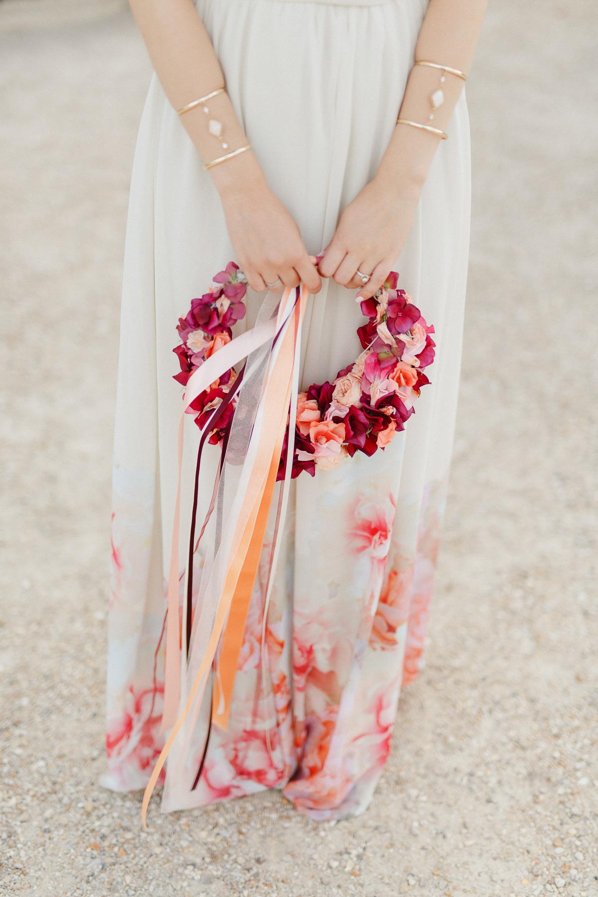 bridal hoop Brautstrauß Kranz
