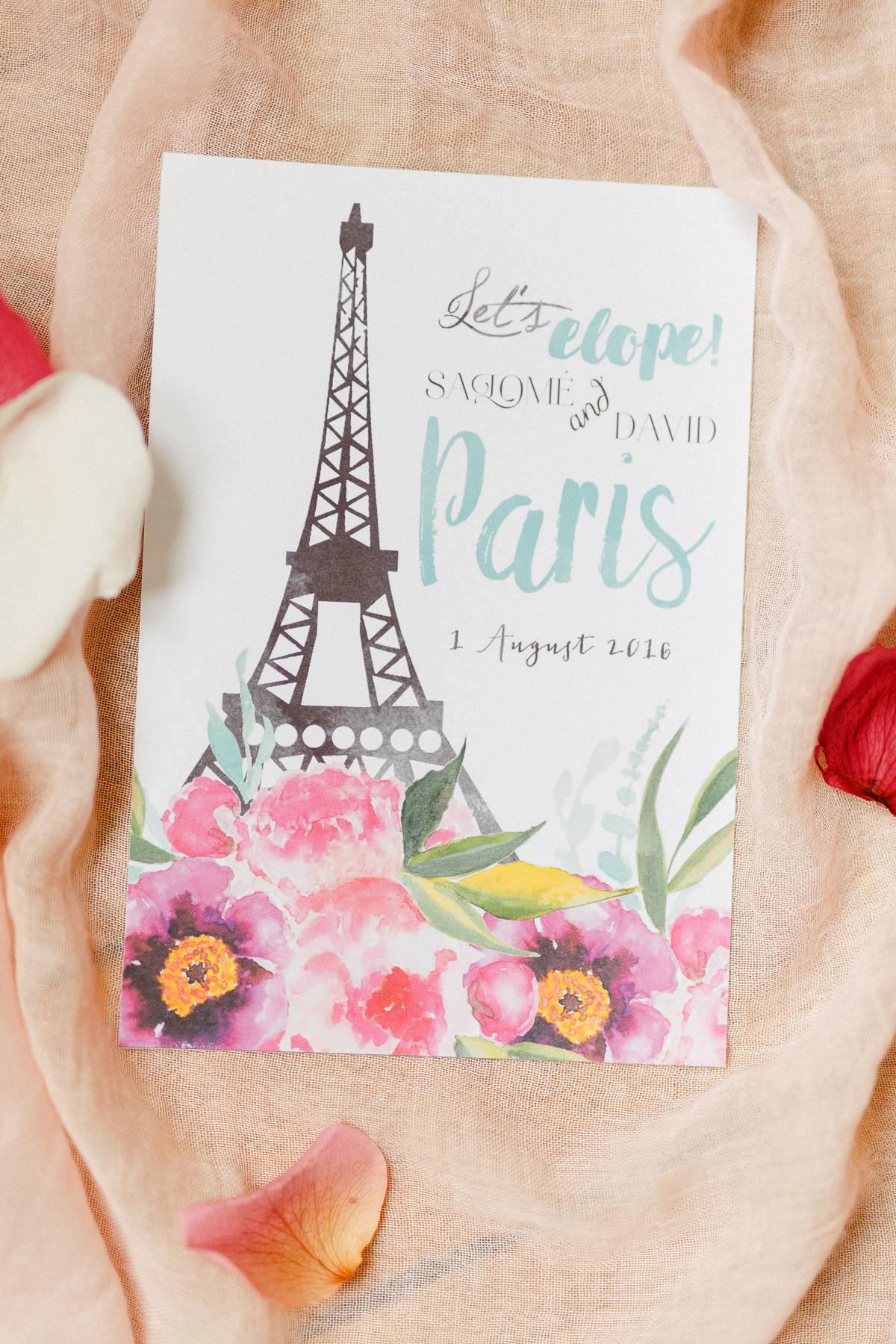 Papeterie Paris Hochzeit