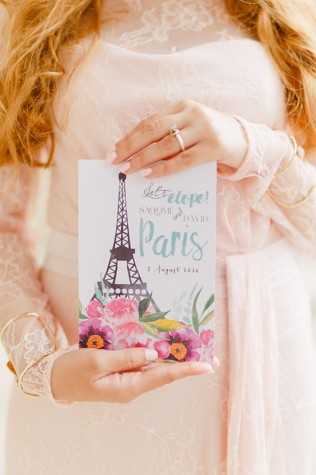 Hochzeit in Paris Einladung