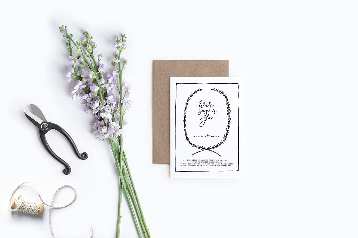 Einladung Kalligrafie