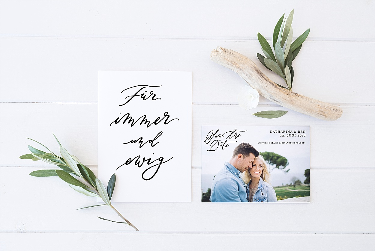 Kalligrafie Papeterie Hochzeit