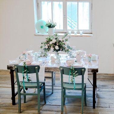 4 Kreative DIY Ideen für eure Hochzeit in Mint mit Anleitung