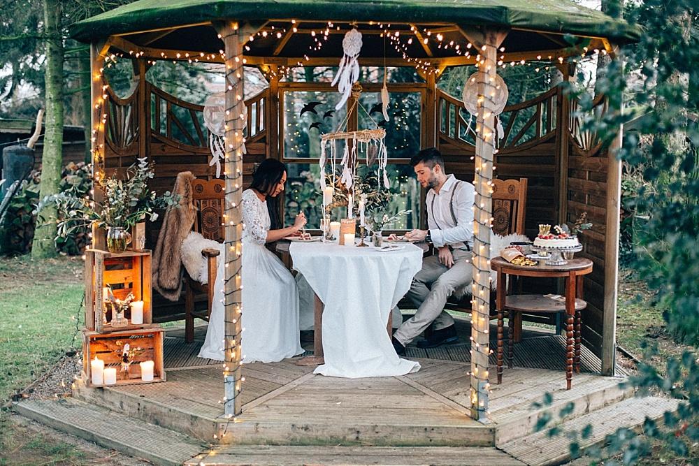 Boho Hochzeit Federn