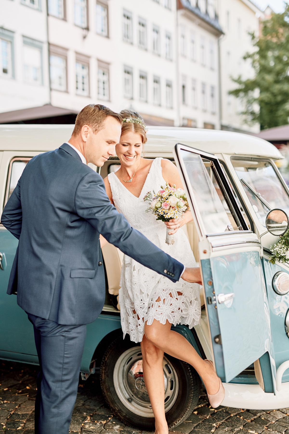 VW Bulli Hochzeit
