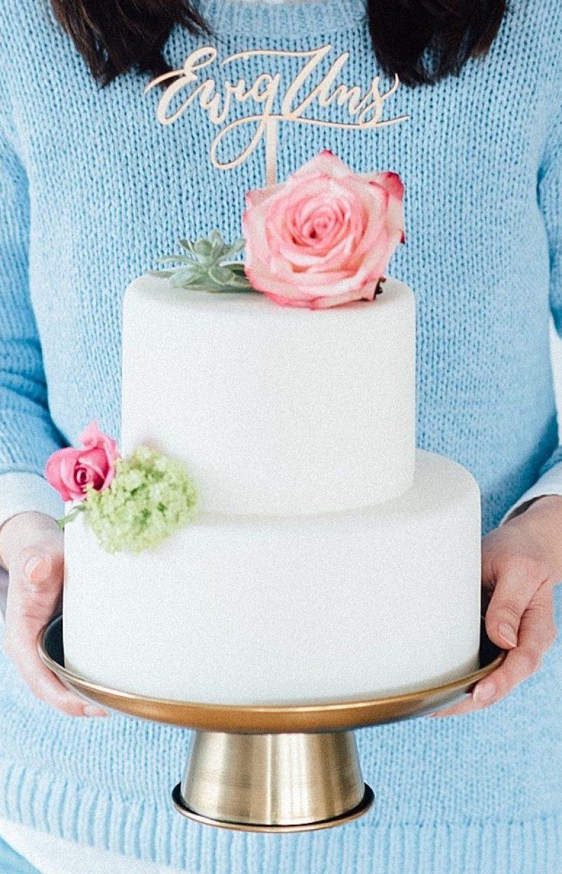 Wunderschöne Cake Topper mit handkalligrafiertem Schriftzug