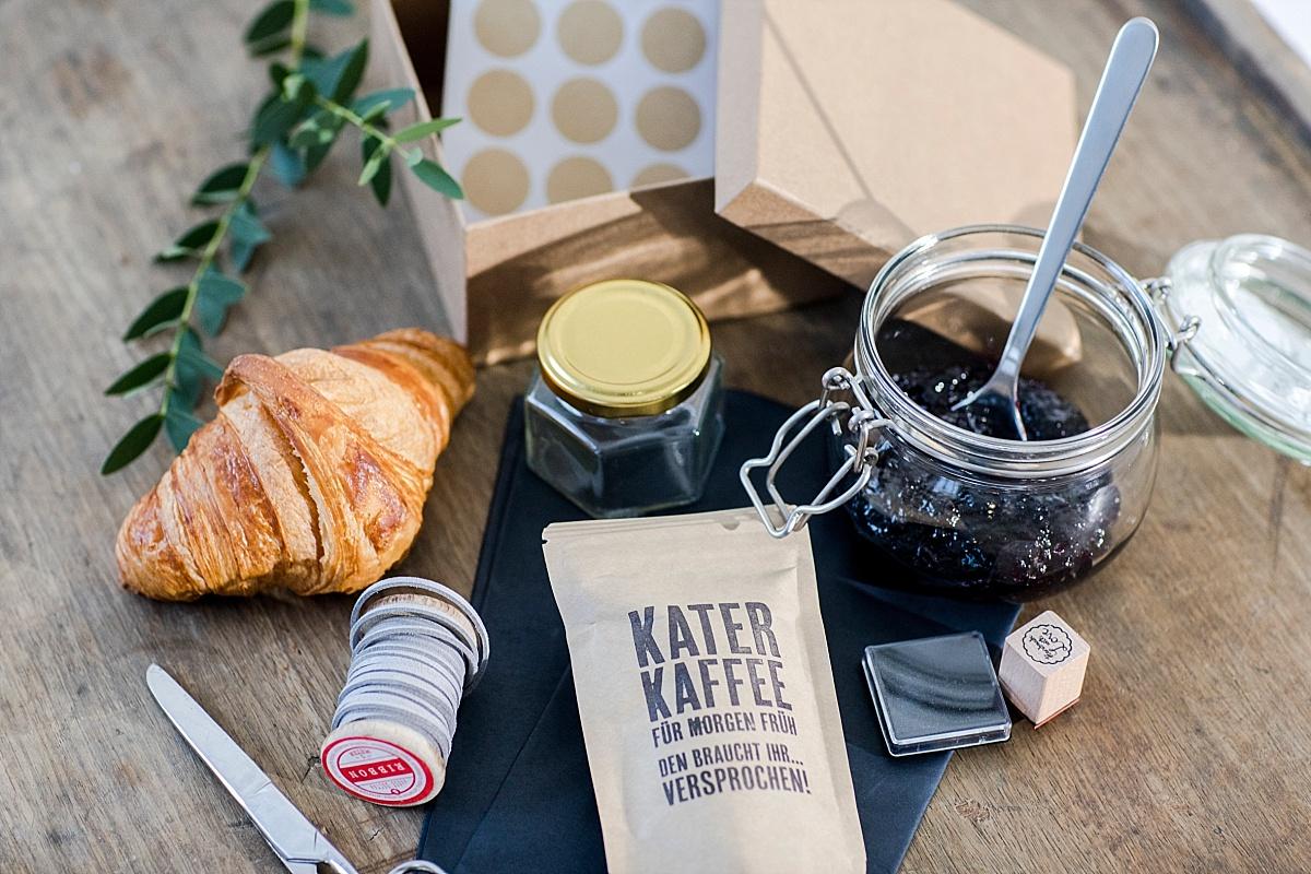 DIY Gastgeschenk Hochzeit Kater Kaffee
