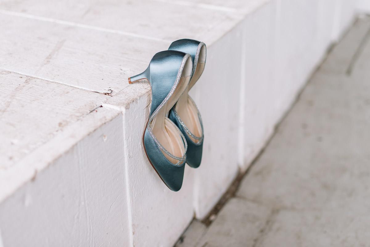 Brautschuhe blau