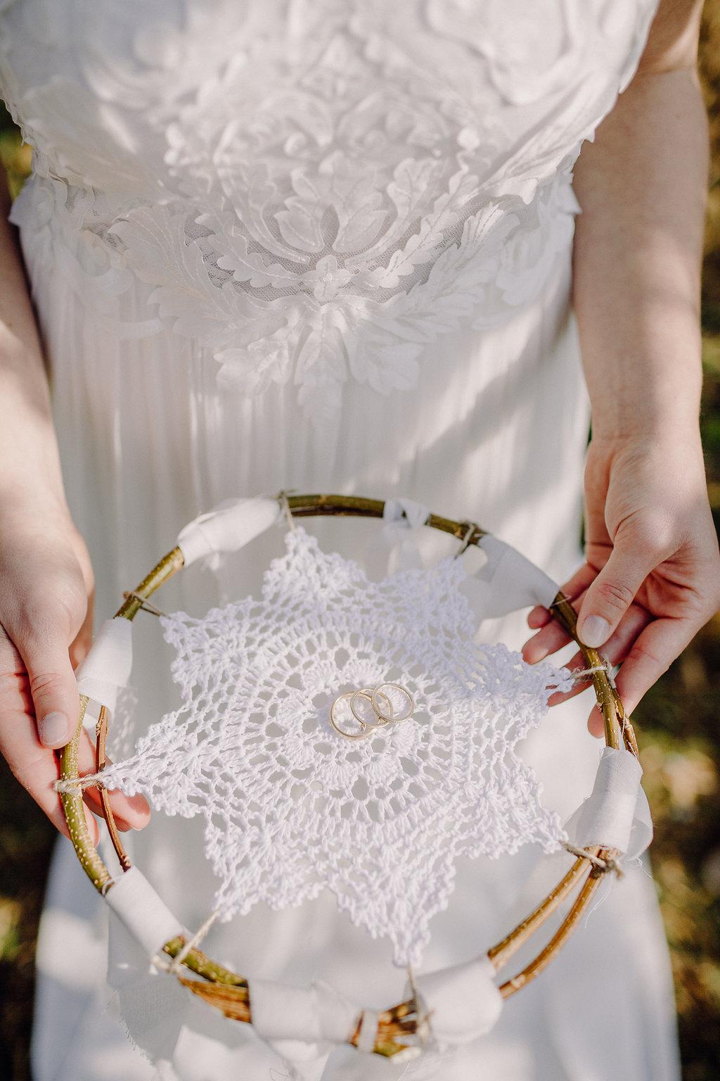 Traumfänger Ringkissen Hochzeit