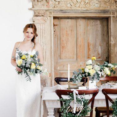 Fine Art Wedding Inspirationen in Greenery und Primerose Yellow