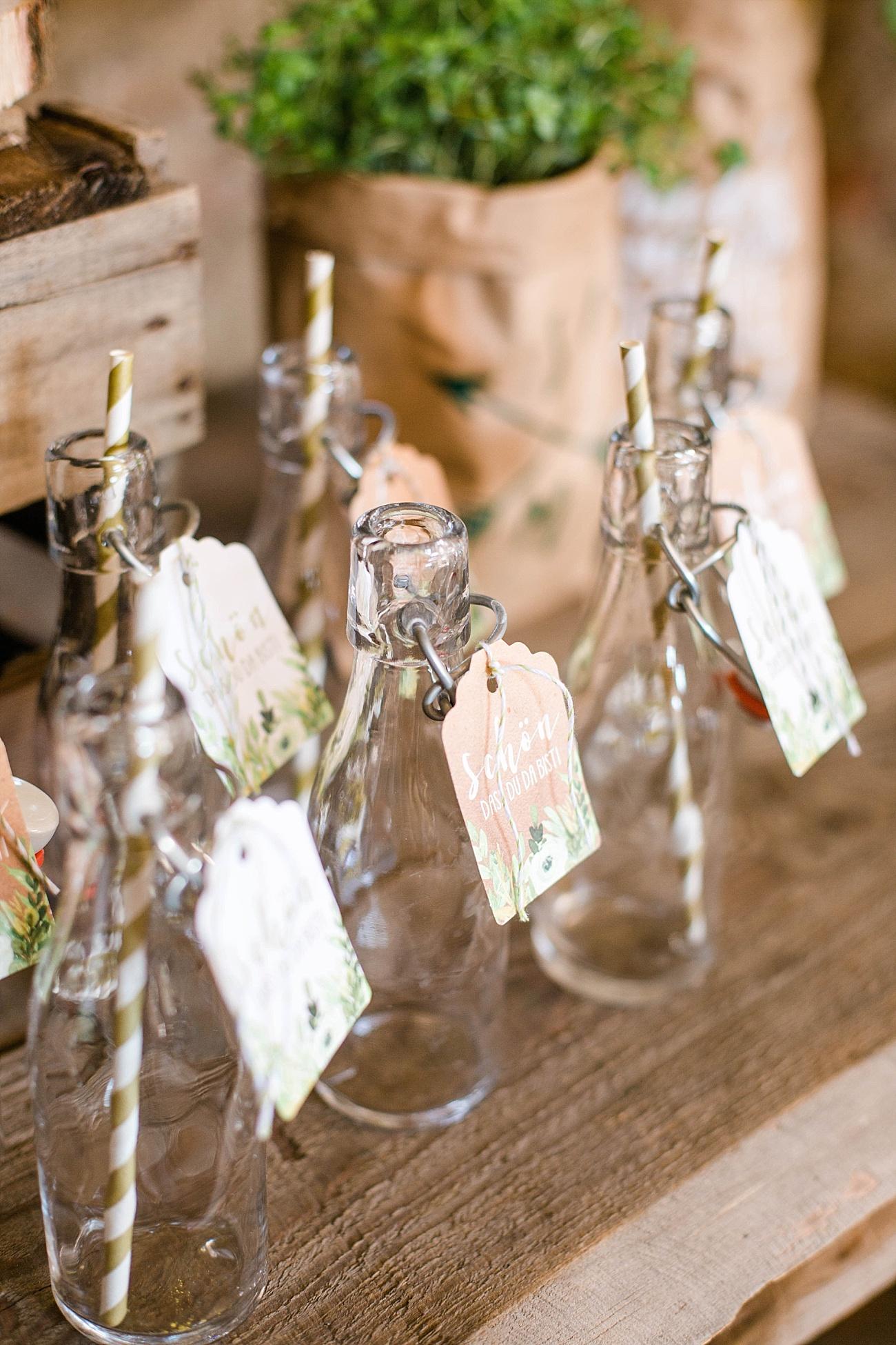 Getränkebar Hochzeit rustikal