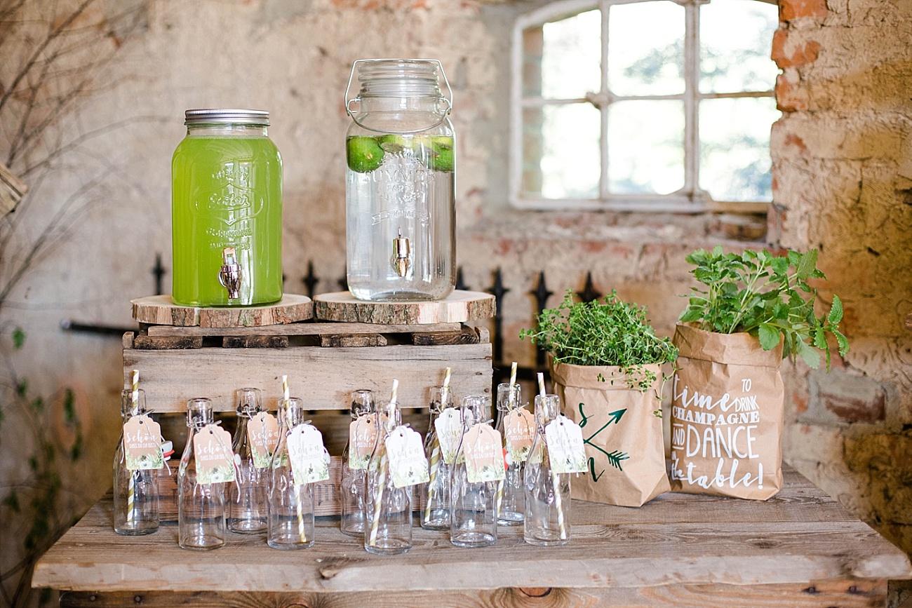 Getränkebar Hochzeit, Limonadenbar Hochzeit