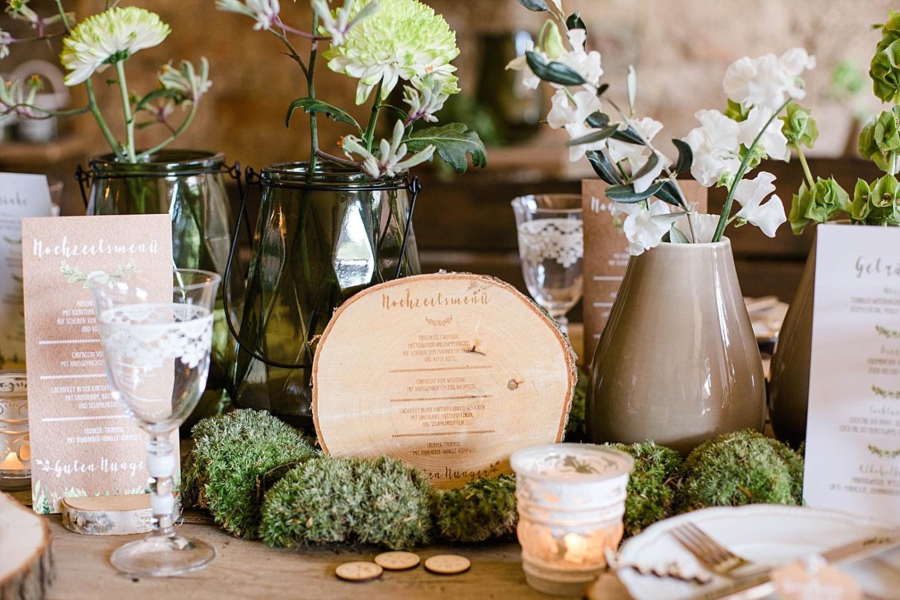Menükarte Hochzeit Holz