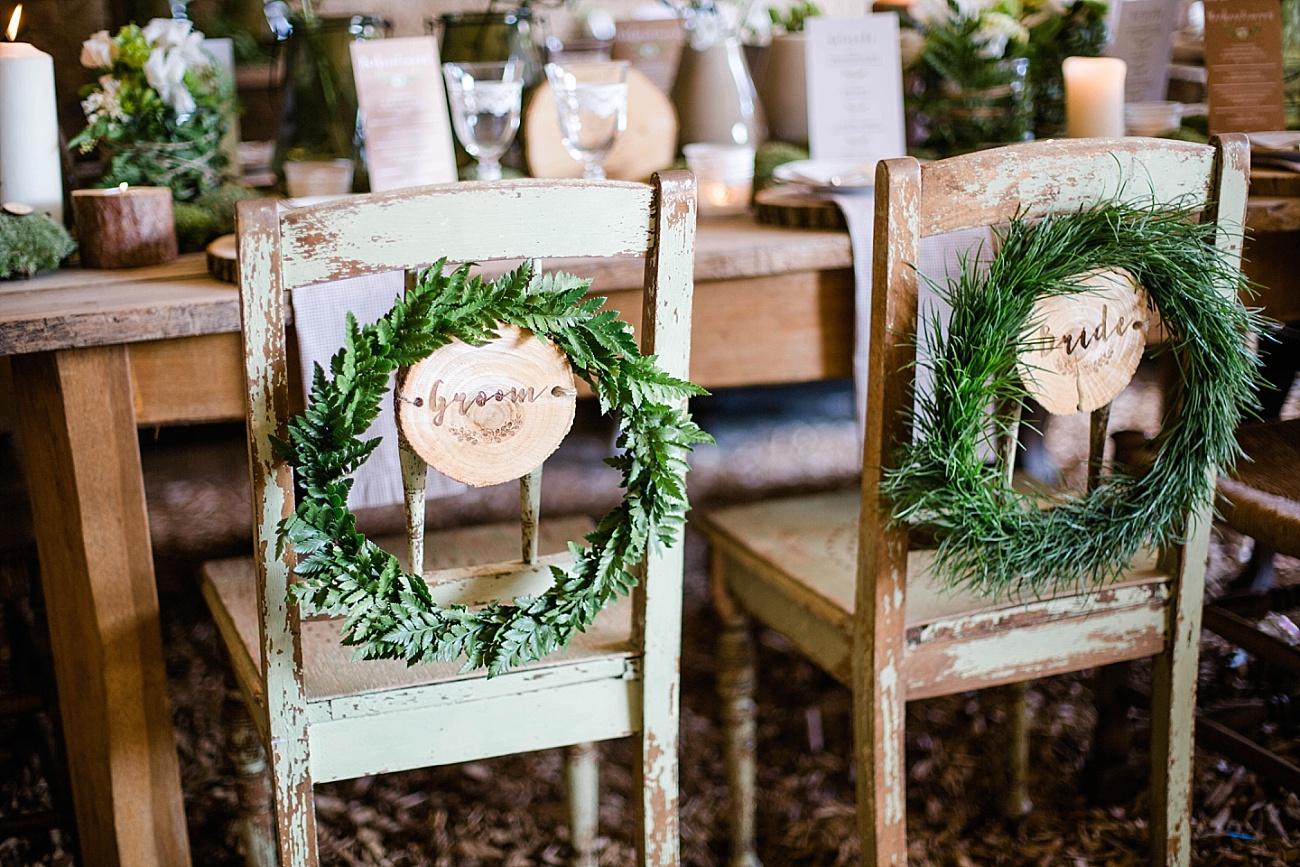 Stuhldeko Hochzeit, stühle verschönern hochzeit