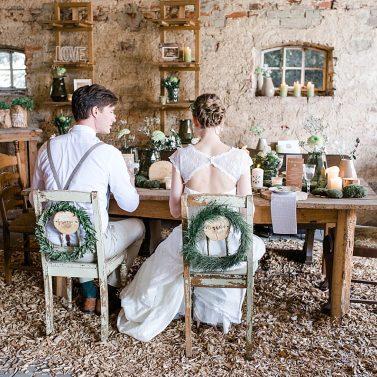 Rustic Greenery und moderne Landhochzeit mit Brautgeflüster