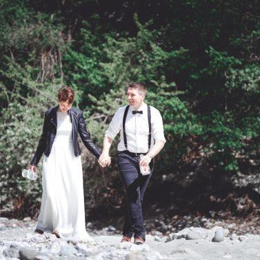 Lässiges After Wedding Picknick in den Bergen