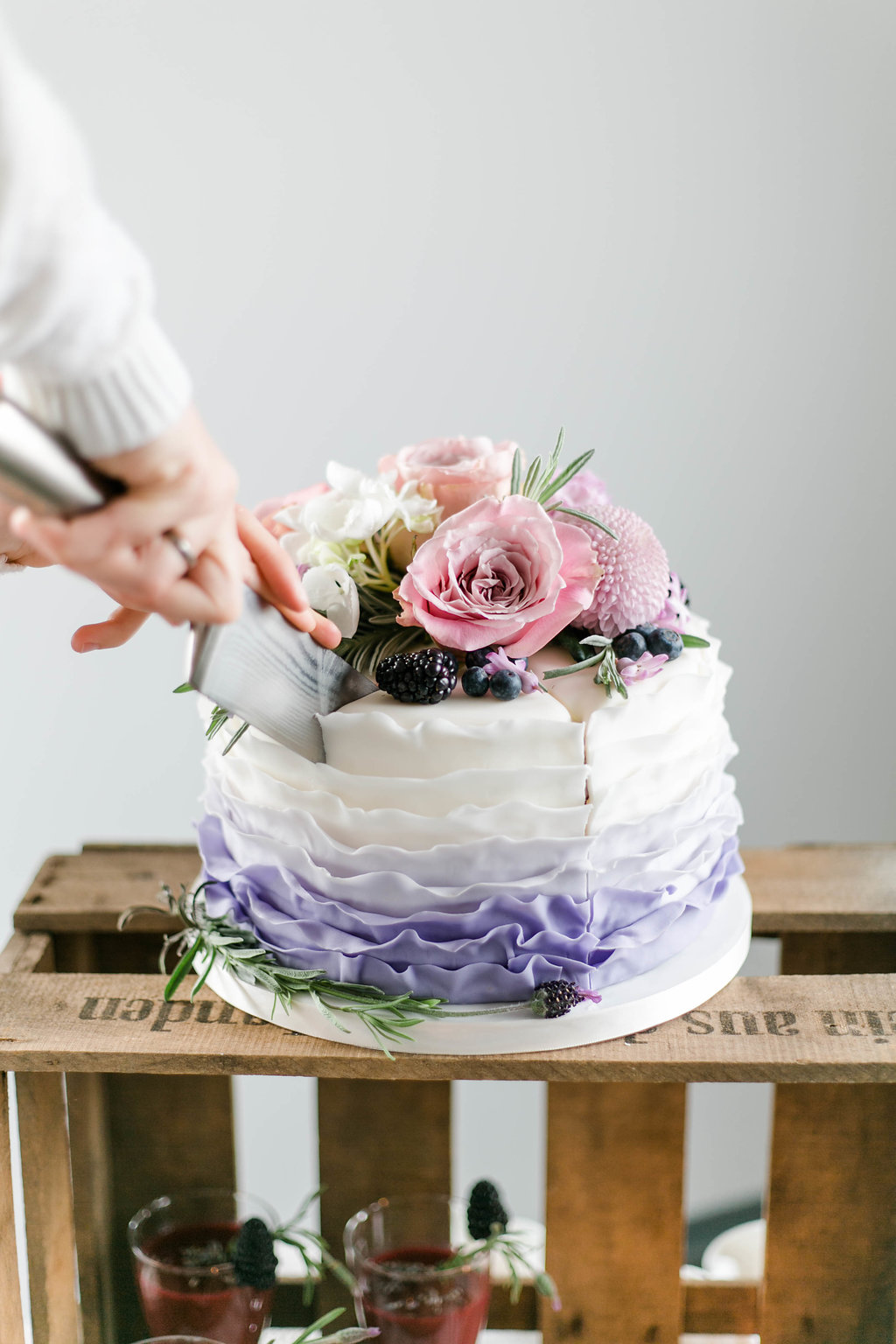 Ruffle Cake Hochzeitstorte