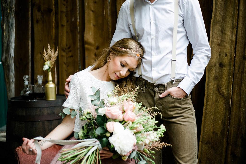 Brautstrauß Astilben rosa weiß