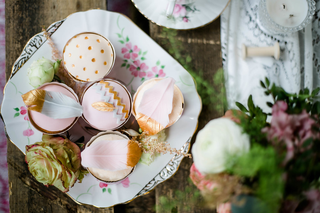 Cupcakes Hochzeit Boho