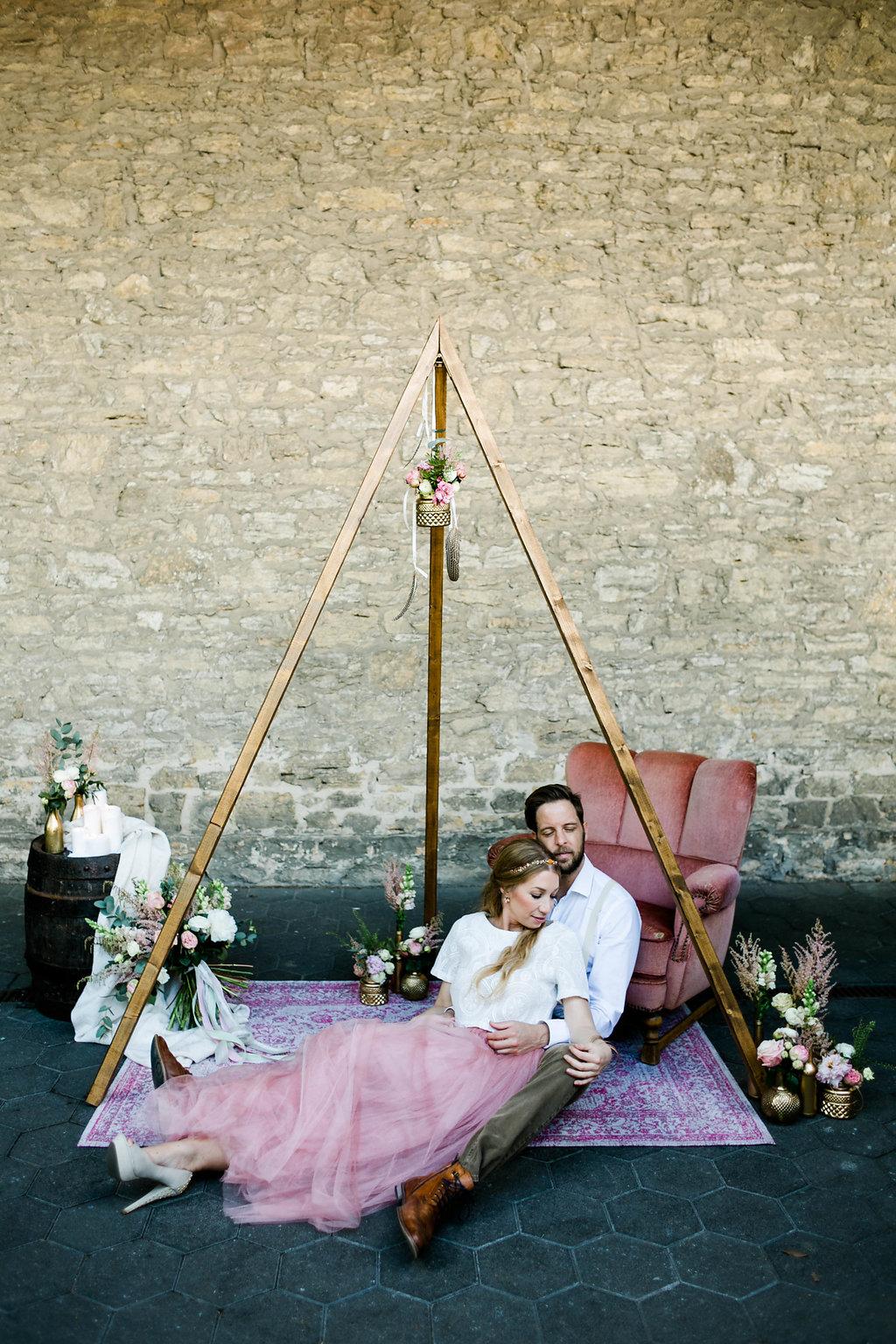 Boho Hochzeit Brautpaar