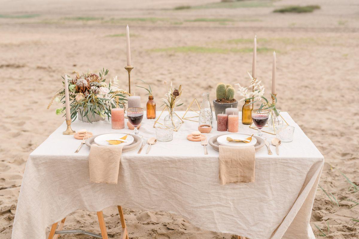 Tischdekoration Greenery Hochzeit