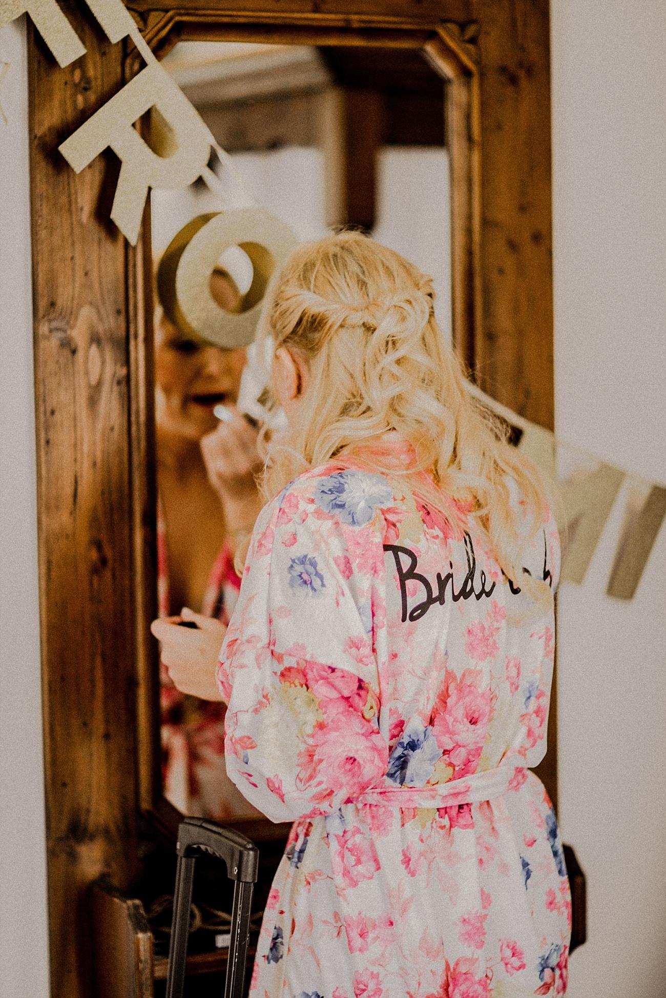 Hochzeit Morgenmantel Bride to be