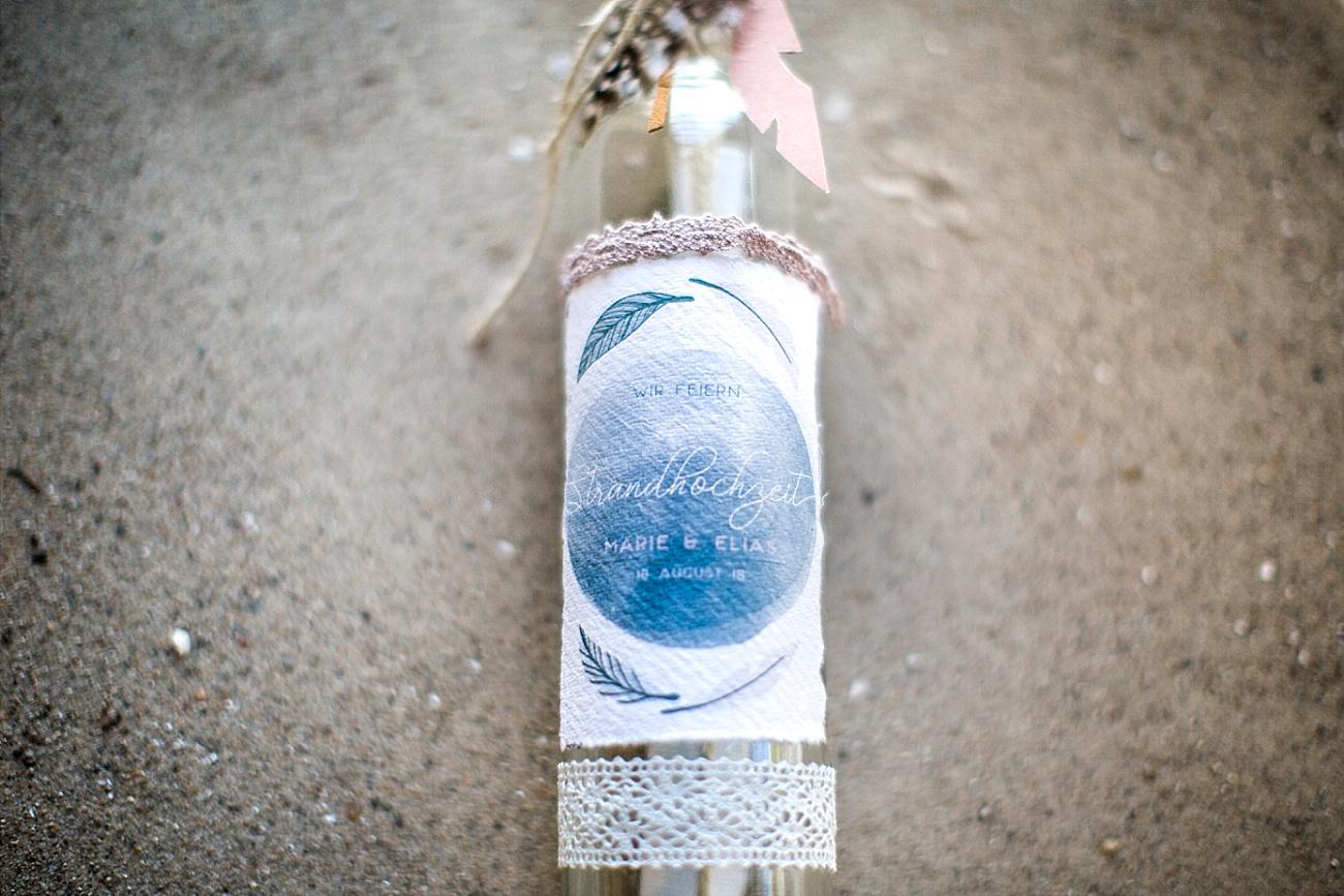 Flaschenpost Hochzeit