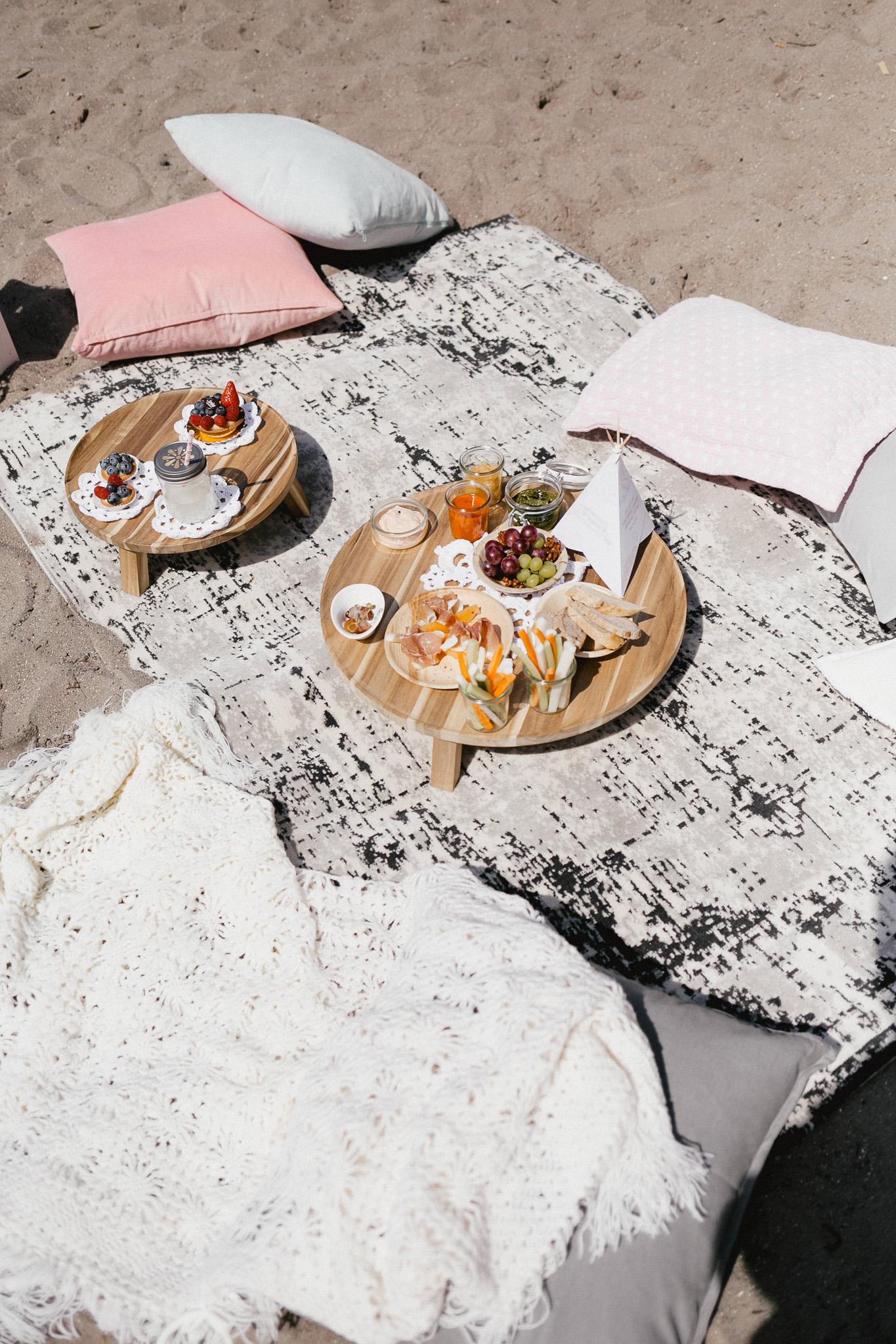 Boho Picknick mit Fingerfood und Antipasti Hochzeit