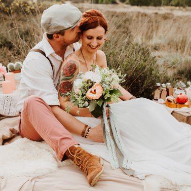 Boho Hochzeitsideen mit Picknick