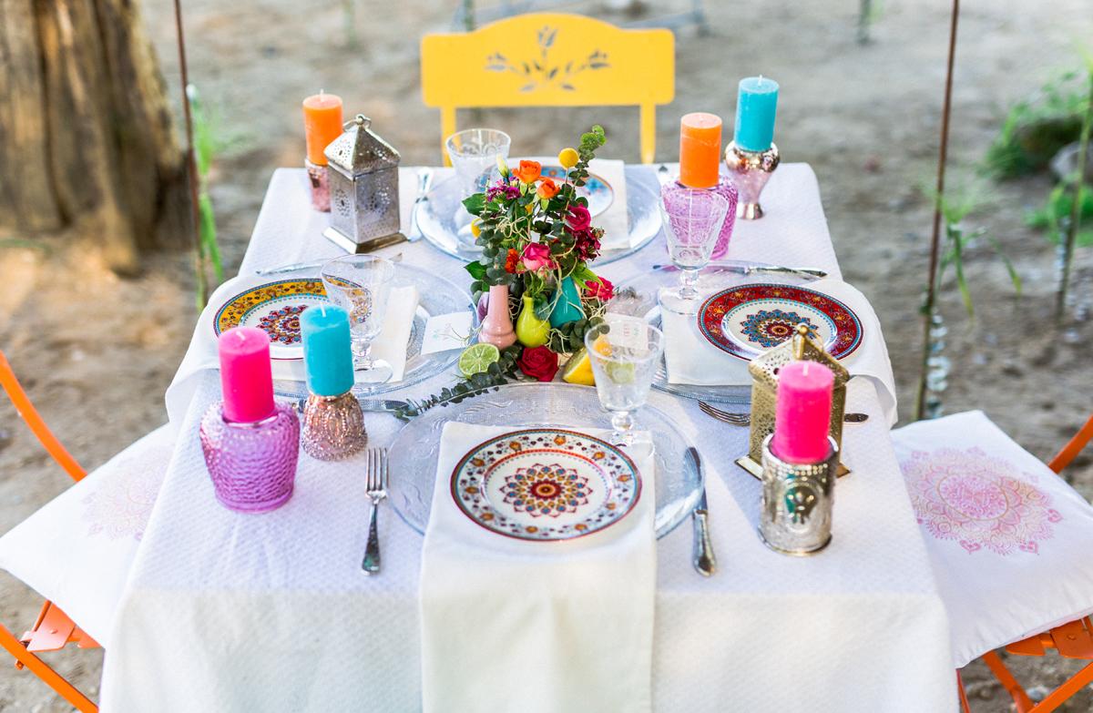 Tischdekoration Hochzeit karibisch
