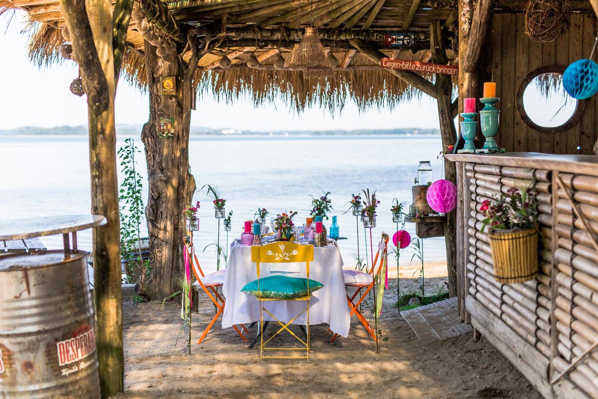Boho Hochzeit am Strand mit karibischem Flair