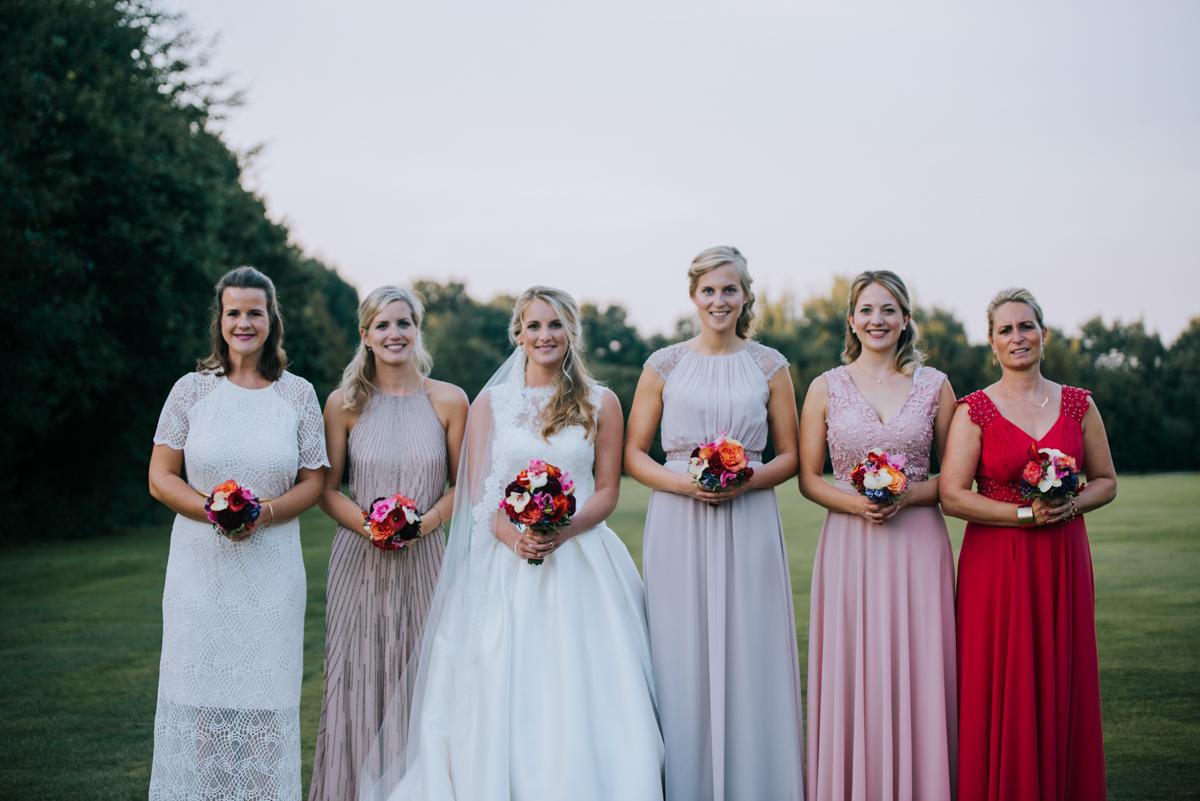 Hochzeitsfotos Ideen Gruppenbild mit Brautjungfern