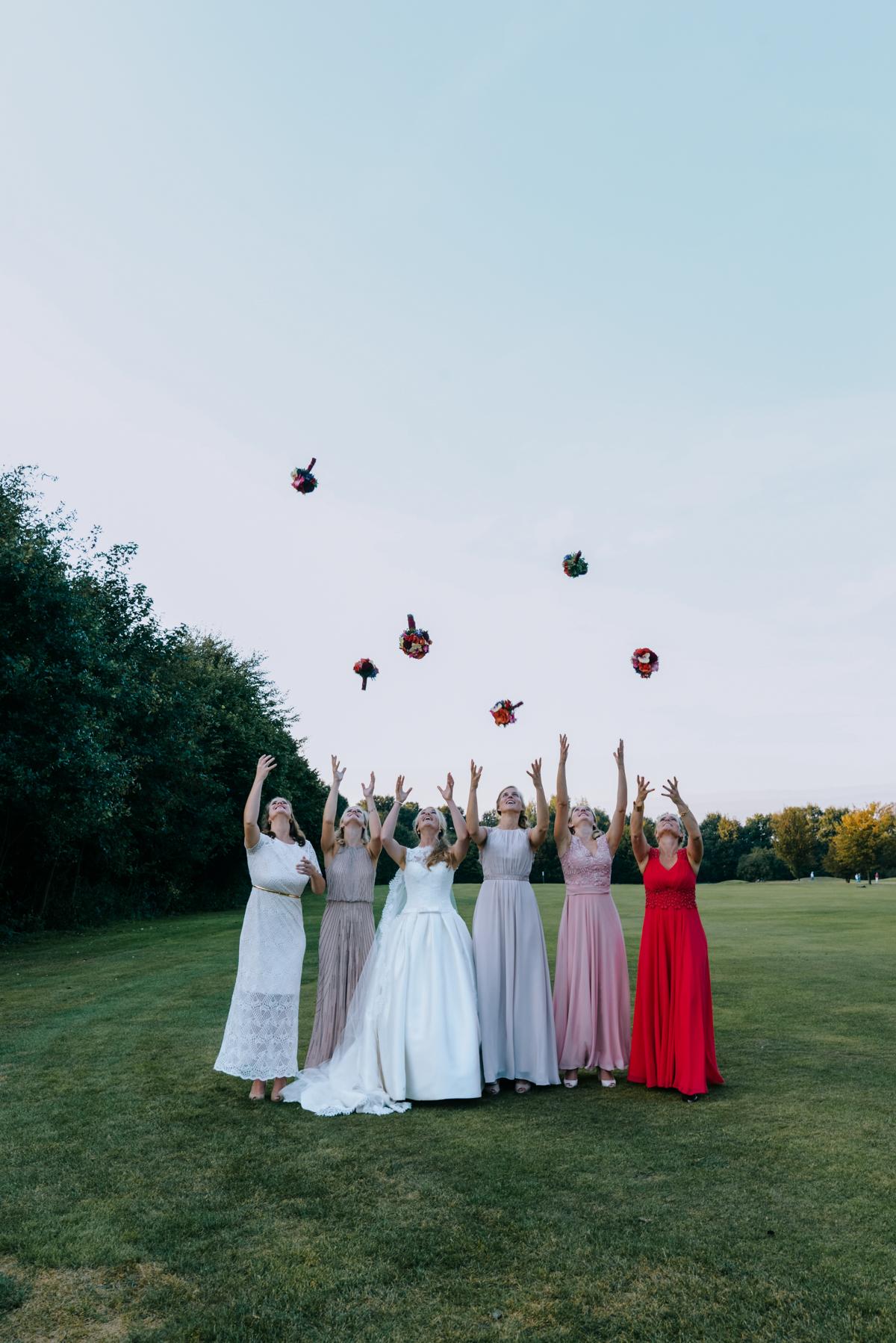 witzige Gruppenfotos Hochzeit mit Trauzeugen