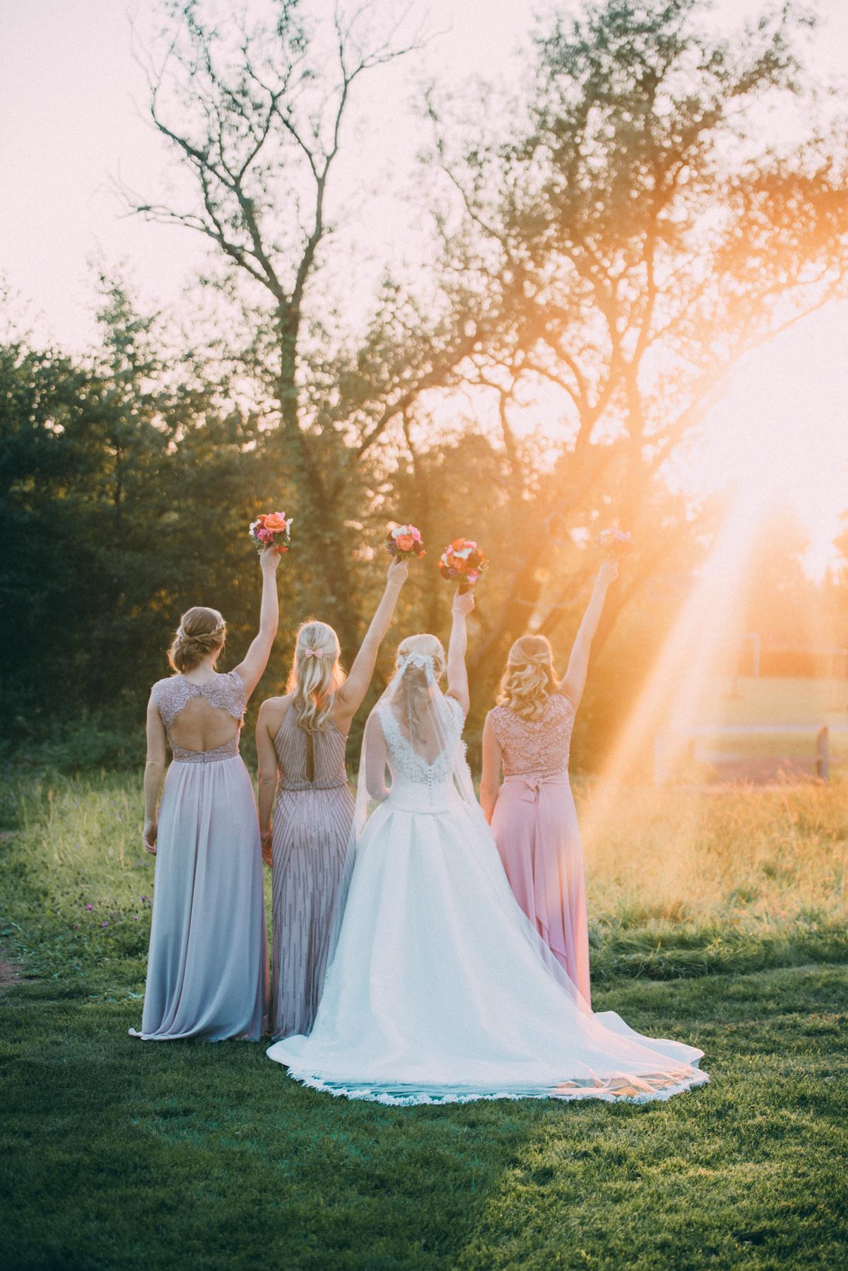 Gruppenfoto Hochzeit mit Trauzeuginnen Team Bride