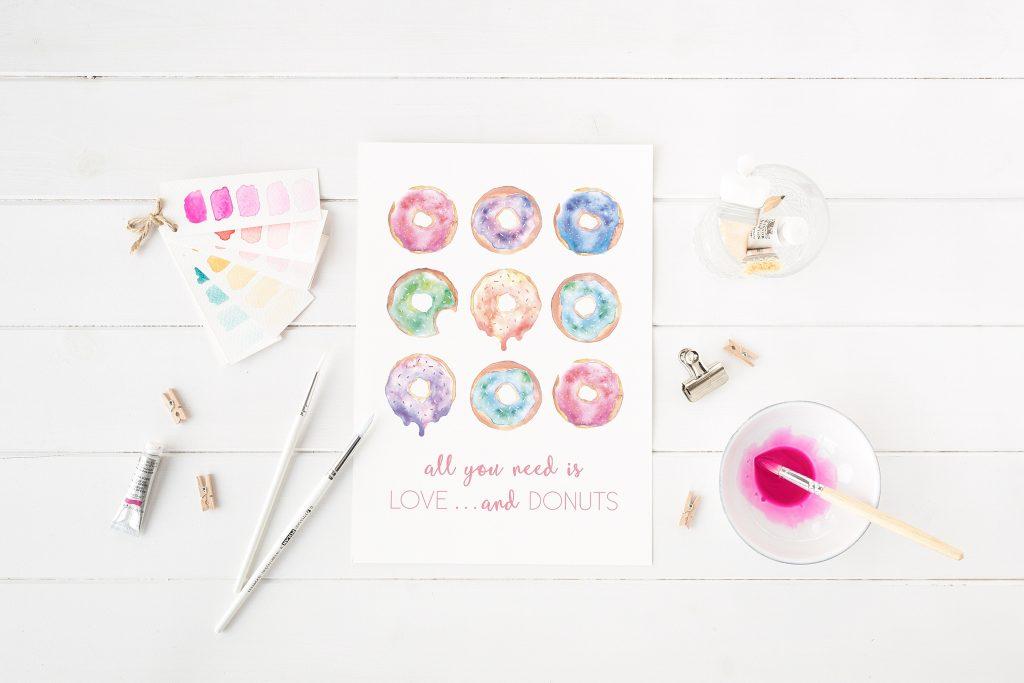 Die neuen Aquarell Prints für eure Hochzeit von Farbgold