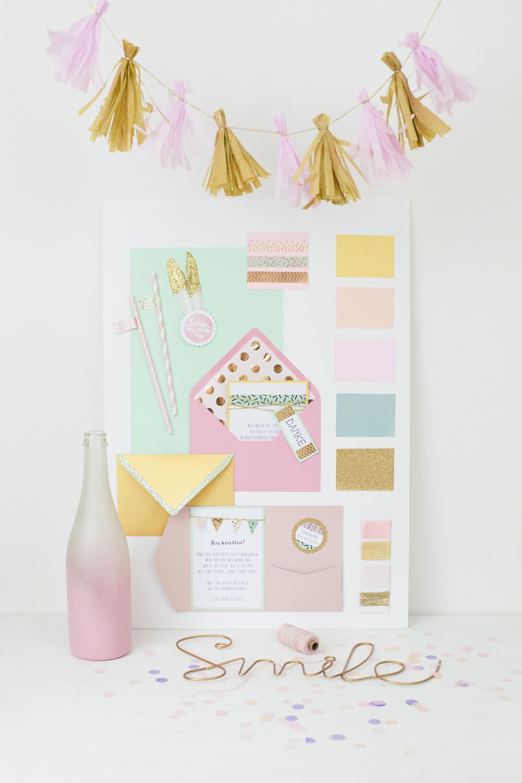 Color Moodboards Pastell Dreams für Hochzeitskonzepte