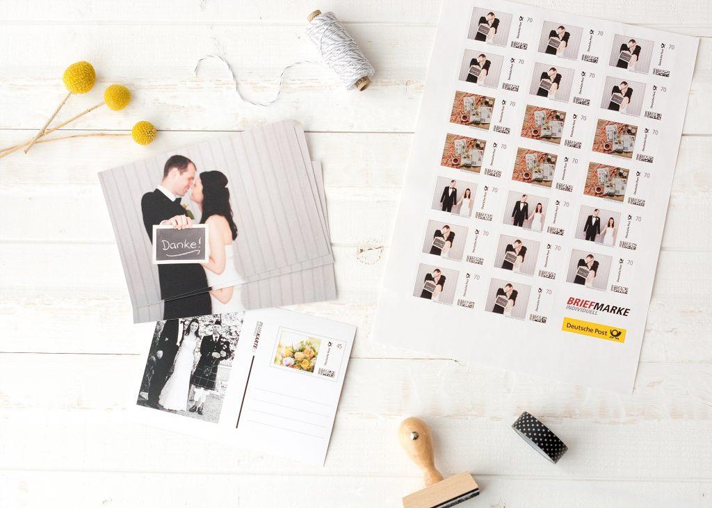 Individuelle Briefmarken für eure Hochzeitskarten von Deutsche Post