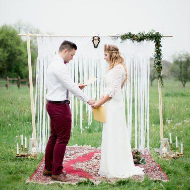 Tipps und Ideen für eine Boho Wedding mit freier Trauung
