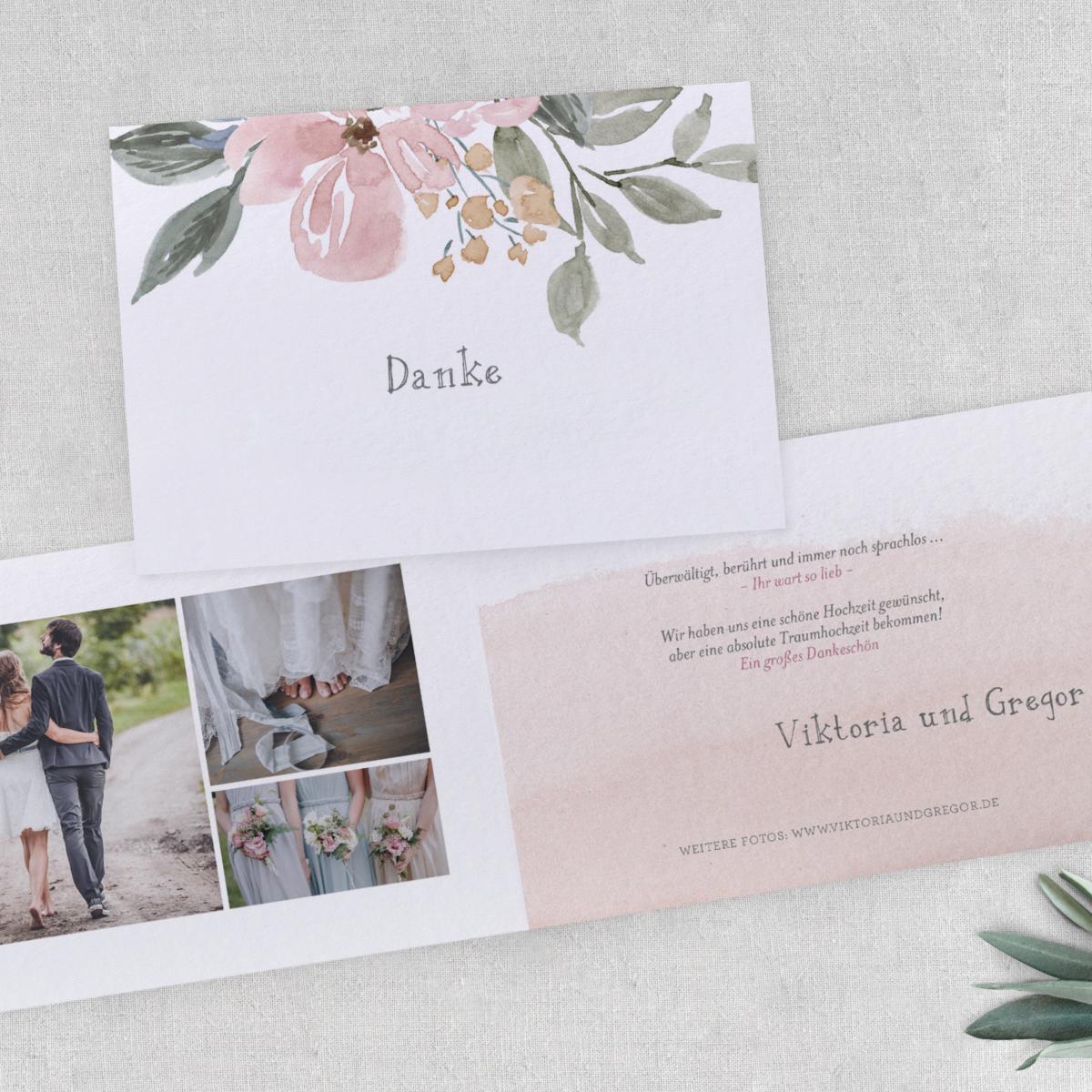 Hochzeitskarten Wasserfarben für Fine Art Wedding