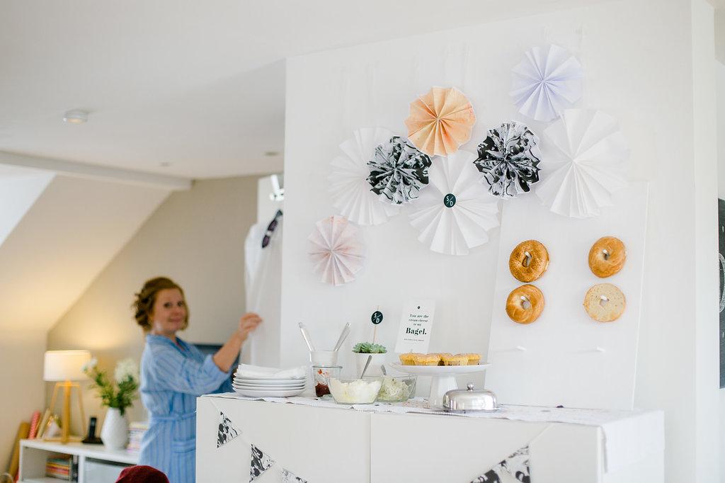 Bagel Wall, DIY Bagel Wand Hochzeit