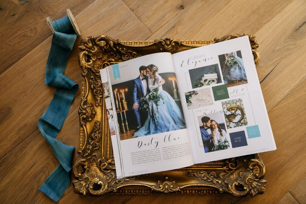 Fine Art Hochzeitsideen in Dusty Blue