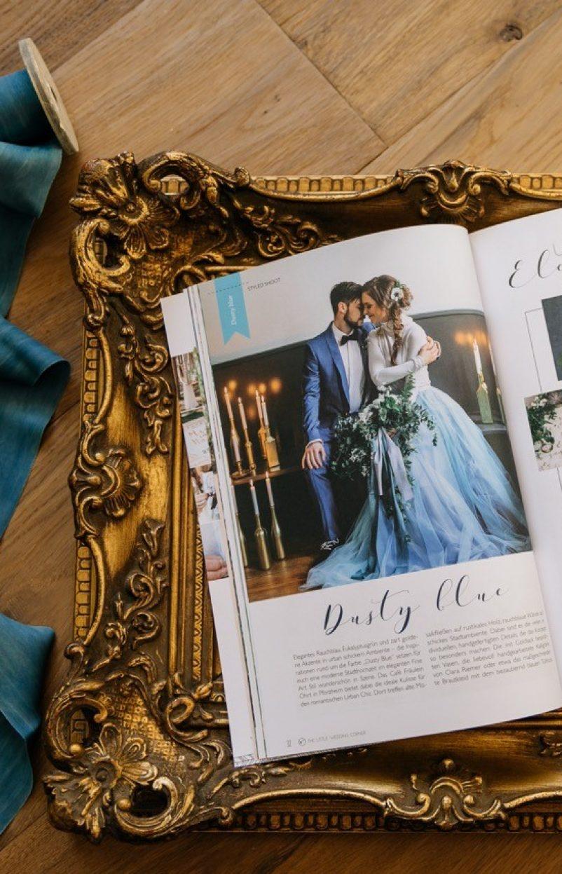 Fine Art Hochzeitsideen in Dusty Blue