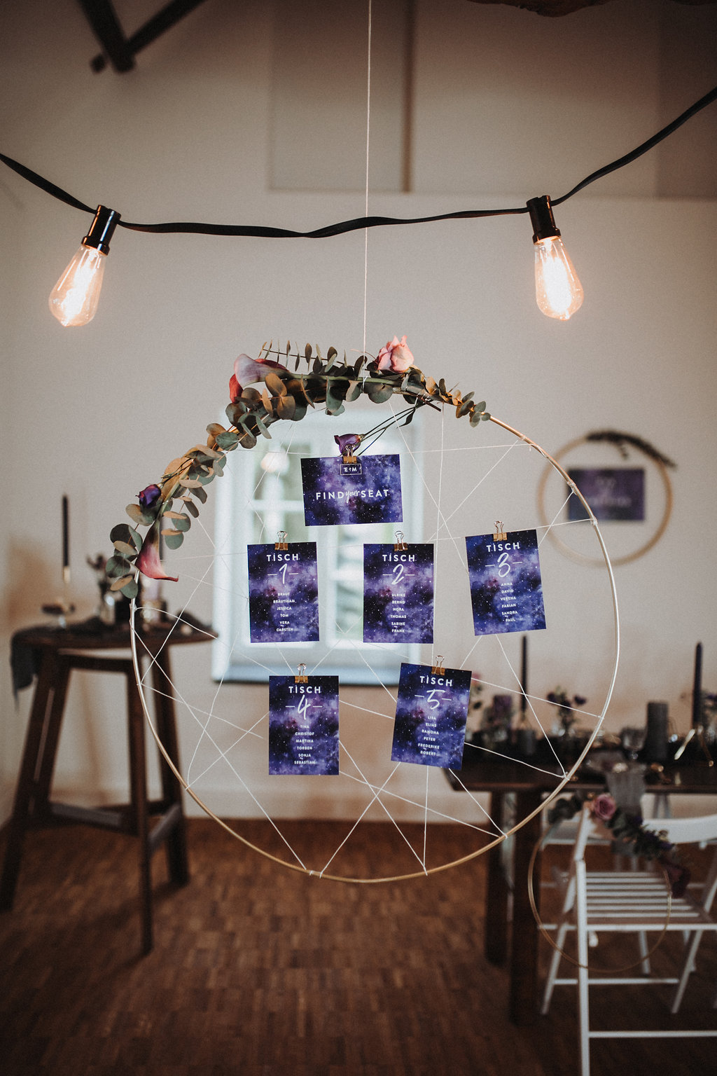 Sitzplan Galaxy Wedding Ultra Violet, Sitzplan lila, Hochzeit lila