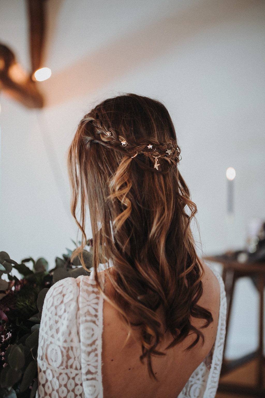 Hochzeit frisur lange Haare, halboffen Brautfrisur, Brautfrisur halboffen, Flechtfrisur Hochzeit
