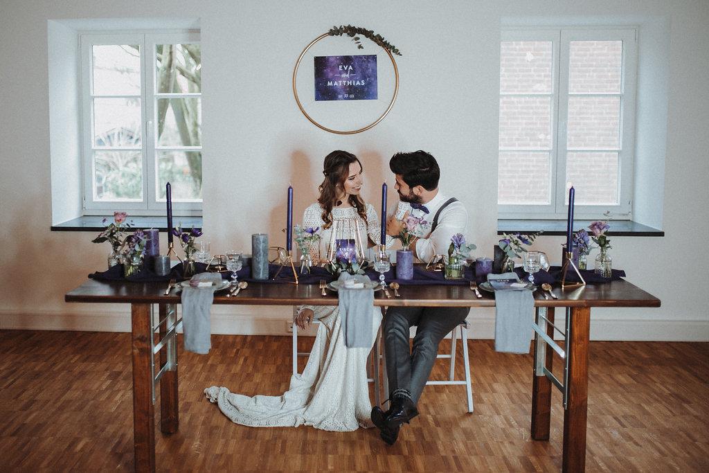 Ultra Violet Galaxy Wedding, lila Hochzeitsdeko, Hochzeitsdekoration lila, Hochzeit Ultra Violet