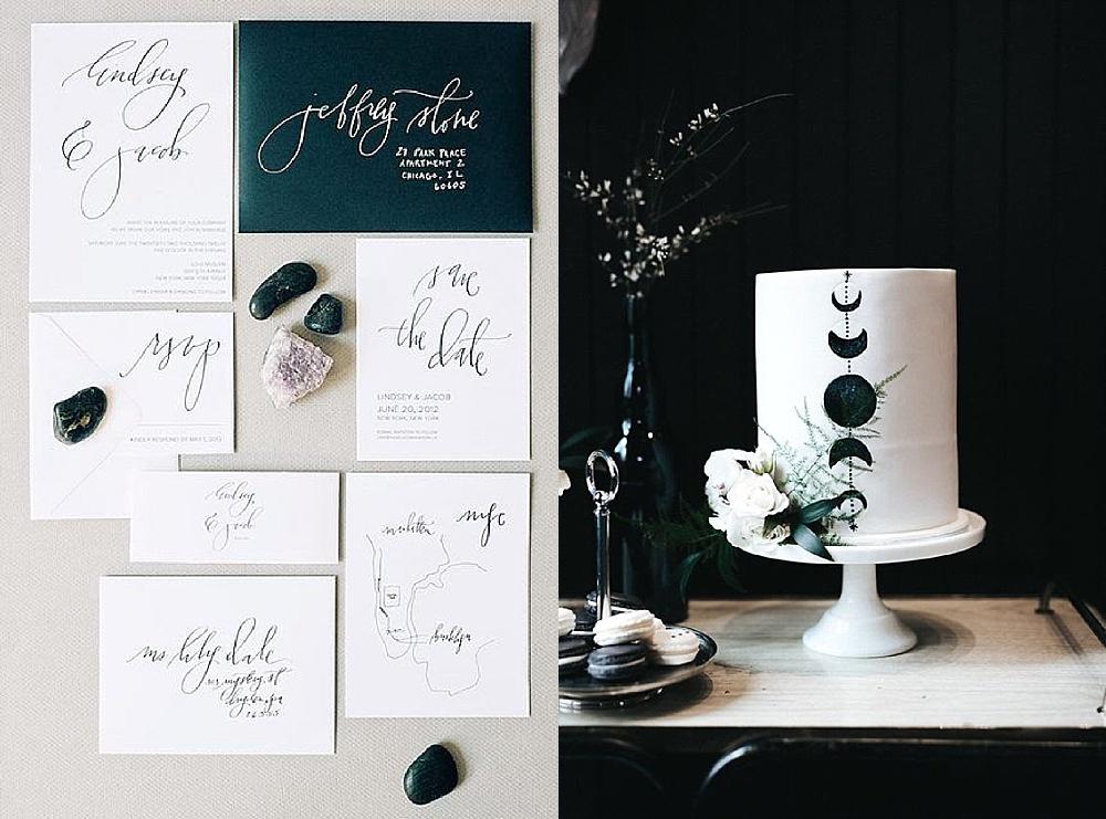 Hochzeitstrends 2018 Mond und Sterne Hochzeit, Hochzeitstorte Mond