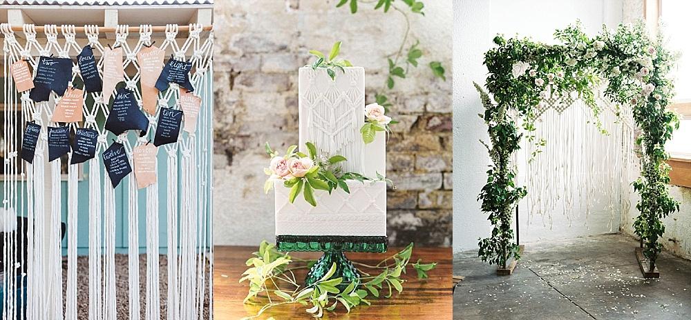 Hochzeitstrends 2018: Makramee auf Hochzeiten