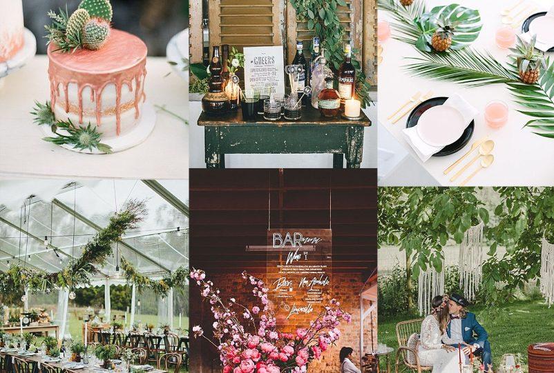 Die Hochzeitstrends 2018 (I): Greenery, Acryl und Kinfolk Wedding