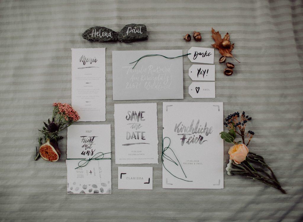 5 Ideen, wie ihr die Download Hochzeitskarten  im Brush Lettering Stil nutzen könnt