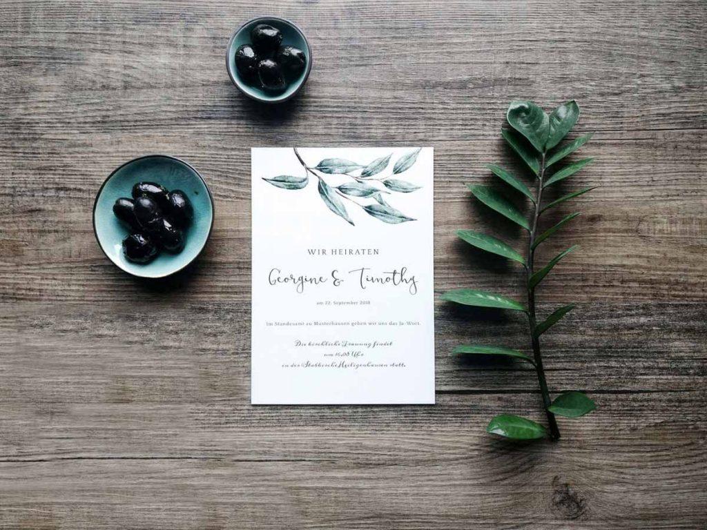 Individuelle Hochzeitskarten und Gutschein im Wert von 250€ gewinnen